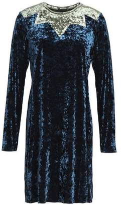 Anna Sui Two-Tone Crushed Velvet Mini Dress