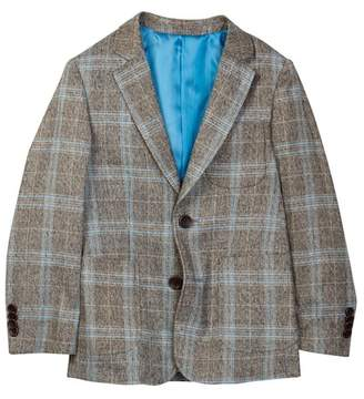 Isaac Mizrahi Plaid Blazer (Toddler & Little Boys)