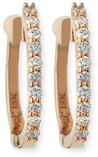 Roberto Coin Baby Hoop Diamond Earrings