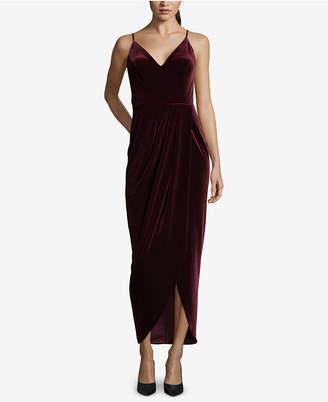 Xscape Evenings Velvet Tulip-Hem Dress