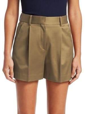 Theory Hudson Pleated Twill Shorts