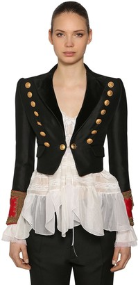 DSQUARED2 Wool & Silk Bolero Jacket