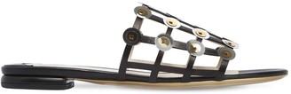 Ernesto Esposito 10mm Cage Leather Slide Sandals