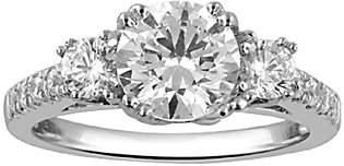 Affinity Diamond Jewelry 3-Stone Diamond Bridal Ring, 14K, 1.50cttw by A
