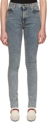 Gucci Blue Marble Wash Jeans