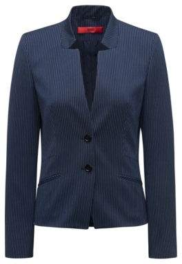 HUGO Boss Regular-fit blazer in pinstripe stretch fabric 2 Open Blue