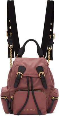 Burberry Pink Small Nylon Rucksack $1,150 thestylecure.com