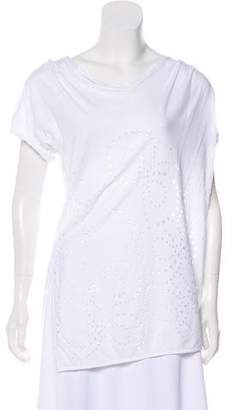 3.1 Phillip Lim Perforated Short Sleeve Top