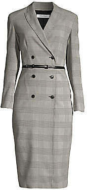 Max Mara Women's Pianosa Glen Plaid Cotton Double-Breasted Dress - Size 0