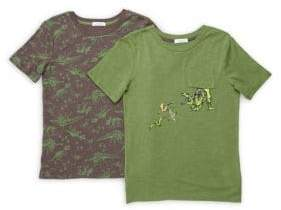 Flapdoodles Little Boy's Two-Pack Fundamentals Printed Tee Set