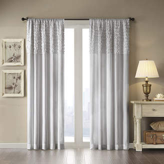 Madison Park Kylie Horizontal-Ruffle Rod-Pocket Curtain Panel