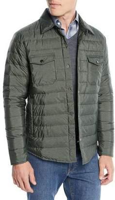 Peter Millar Men's Crown Elite Quilted Shirt Jacket