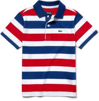 Lacoste Boys' SPORT Striped Cotton Tennis Polo