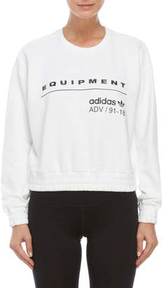adidas Equipment Ribbed Pullover Sweatshirt