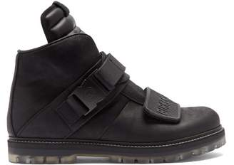 e7f8c562a157 Rick Owens X Birkenstock Velcro High Top Leather Trainers - Mens - Black