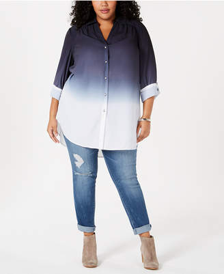 INC International Concepts I.n.c. Plus Size Ombre Tunic