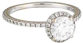 1.08ct Diamond Halo Engagement Ring