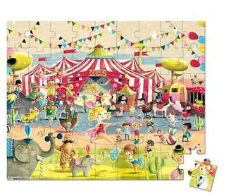 Janod Circus Hat Box 54-Piece Puzzle