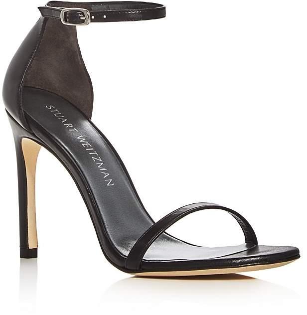 Stuart Weitzman Nudistsong Ankle Strap High Heel Sandals