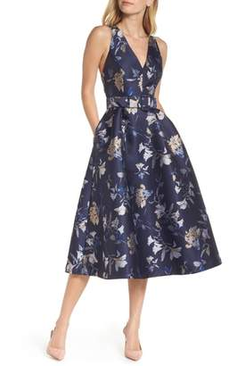 1901 Belted Fit & Flare Party Dress