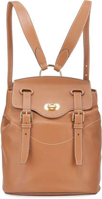 Ralph Lauren Soft Luxe Leather Flap-Top Backpack