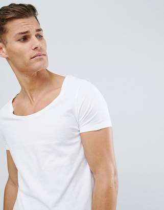 Asos Design DESIGN t-shirt with scoop neck in white