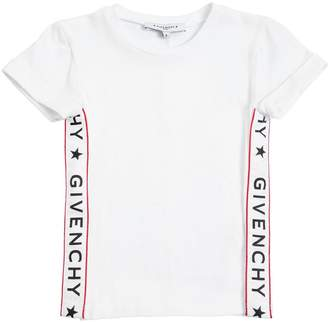 Givenchy Cotton Jersey T-Shirt With Side Bands