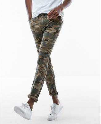 Express skinny camo stretch chino pant