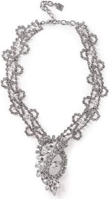 Dannijo Loraine Silver-tone Crystal Necklace