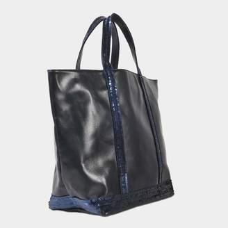 Vanessa Bruno Leather and glitter medium tote