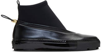 Marni Black Neoprene and Leather Sock Boots