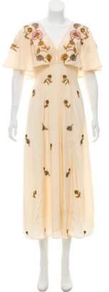 Cleobella Floral Print Evening Dress w/ Tags