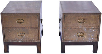 One Kings Lane Vintage Brass 2-Drawer Chests - Set of 2 - Erin Giglia Design