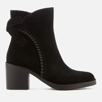 UGG Women's Fraise Whipstitch Suede Heeled Ankle Boots