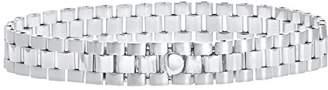Rolex Citerna Women's Sterling Silver Triple Link Style Bracelet of 18.4 cm