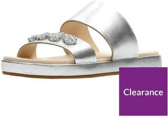 4989233a7051 at Littlewoods · Clarks Botanic Lily Jewel Slide Sandal - Silver Metallic