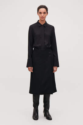 Cos LONG COAT-STYLE DRESS
