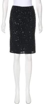 Alice + Olivia Sequined Knee-Length Skirt w/ Tags