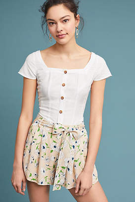 Moon River Pleated Floral Shorts