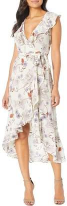 Donna Morgan Chiffon Wrap Dress