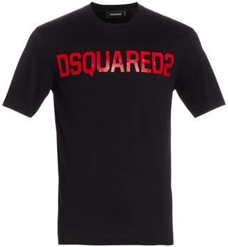 DSQUARED2 Logo Stud Fit T-Shirt