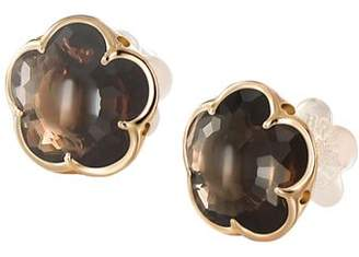 Pasquale Bruni 18K Rose Gold Smoky Quartz Floral Stud Earrings