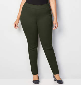 Avenue Butter Denim Pull-On Skinny in Olive