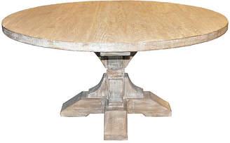 CFC Pedestal Dining Table - Graywash