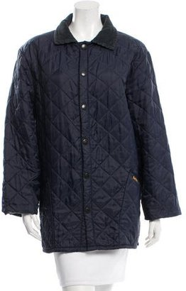 Barbour Corduroy-Accented Quilted Coat $160 thestylecure.com