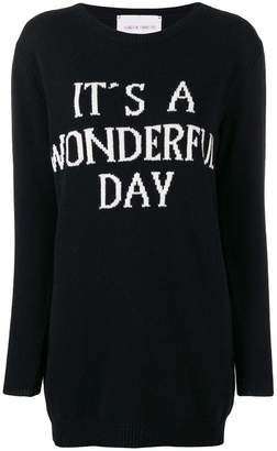 Alberta Ferretti It's a Wonderful Day sweater dress
