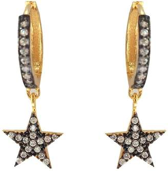 Wild Hearts - Star Mini Hoop Huggie Earrings Gold