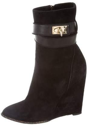 Givenchy Shark Lock Suede Boots Black Shark Lock Suede Boots