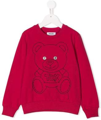 Moschino Kids Teddy Toy embroidered sweatshirt