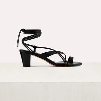 Maje Kitten heel tie-back sandals